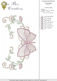 Butterfly Array Embroidery Motif - 02 - Boutique Butterflys by Sue Box