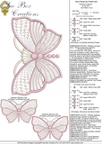 Butterfly Extra Large Embroidery Motif - 04 - Boutique Butterflys by Sue Box