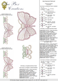 Butterfly Border and Flower Border Embroidery Motif - 05 - Boutique Butterflys by Sue Box
