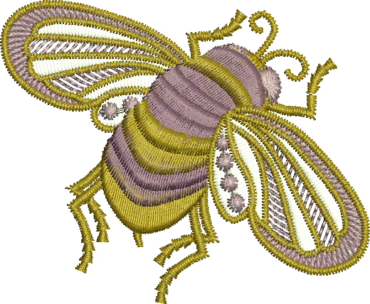 Bee Embroidery Motif by Sue Box