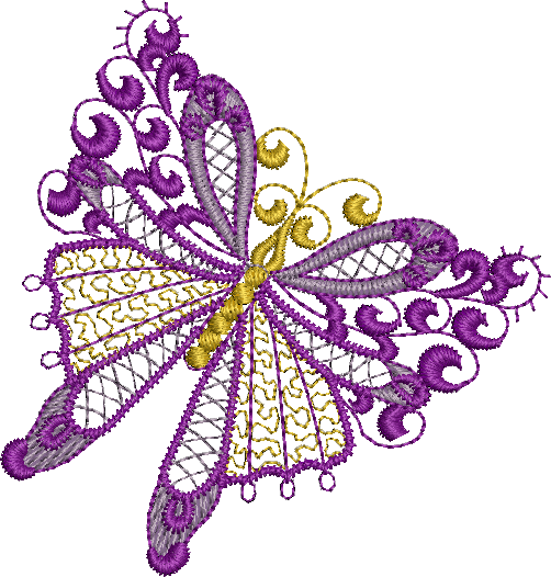 Butterfly Embroidery Design by Sue Box