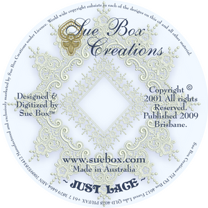 19 - Just Lace Collection by Sue Box on CD