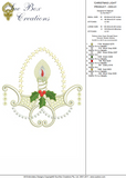 Christmas Light design Embroidery Motif - by Sue Box