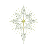 Christmas Star of Bethlehem Embroidery Motif by Sue Box