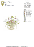 Flower Urn Embroidery Motif - 30 - Creative Floral Gardens by Sue Box