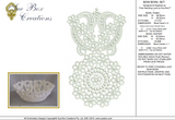 Lace Bow Bowl Set Embroidery Motif -02 - Classic Lace - by Sue Box