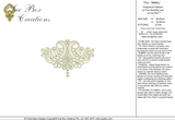 Lace Taj Embroidery Motif Small - 21 - Classic Lace - by Sue Box