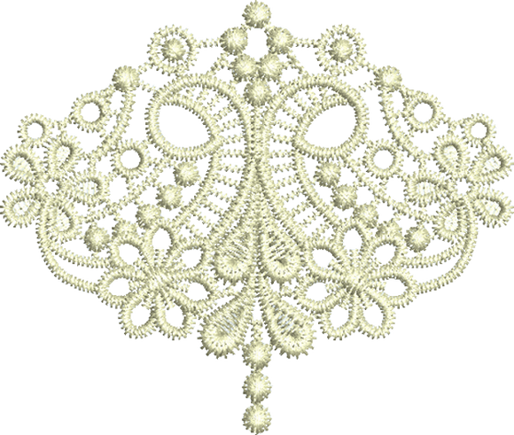 Lace Taj Border Embroidery Motif Small - 17 - Classic Lace - by Sue Box