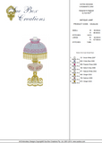 Antique Lamp Embroidery design by Sue Box