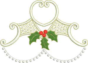 Christmas Design Embroidery Motif by Sue Box