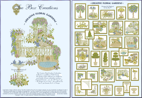 Creative Floral Gardens collection by Sue Box - Full Collection Download