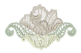 Lace - Antique Flower Small Embroidery Motif - 02 - Designer Lace - by Sue Box