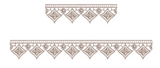 Lace - Old Lace Border Embroidery Motif - 10 - Designer Lace - by Sue Box