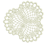 Lace Small Doily Embroidery Motif - 16 - Designer Lace - by Sue Box