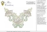 Lace Flower Design FSL Embroidery Motif - 22 - Designer Lace - by Sue Box