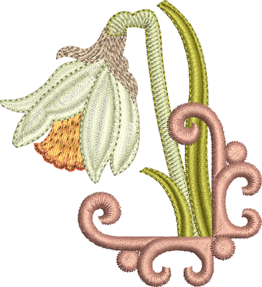 Daffodil Embroidery Motif 3 by Sue Box