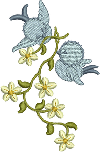 Bluebird Daisy Chain Embroidery Motif by Sue Box