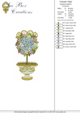 Topiary Tree and Flowers Embroidery Motif - 16 -  Everlasting Embroidery - by Sue Box