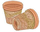 Garden Clay Pots Embroidery Motif - 19 -  Embroidery Favourites by Sue Box