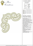 Cutwork Corner Embroidery Motif - 13 -  Embroidery Inspirations - by Sue Box