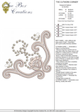 Cutwork Corner Embroidery Motif - 17 -  Embroidery Inspirations - by Sue Box