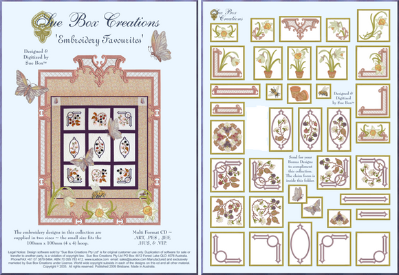 Embroidery Favourites collection by Sue Box - Full Download