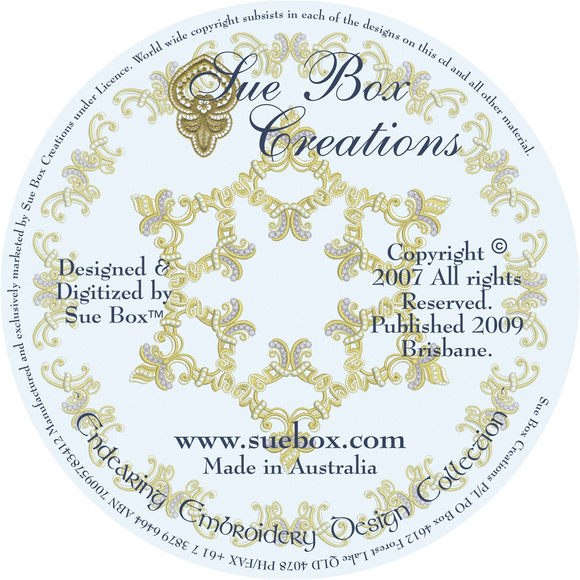 04 - Endearing Embroidery Design Collection on CD