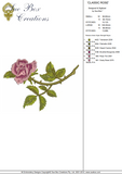 Classic Rose Embroidery Motif - 02 -  Floral Illusions - by Sue Box