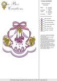 Fushia Flower Border Embroidery Motif - 06 -  Floral Illusions - by Sue Box