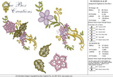 3D Flower Design 2 Embroidery Motif - 14 -  Floral Illusions - by Sue Box