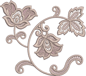 Fleur Embroidery Design by Sue Box