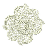 Lace - Abir Motif Embroidery Design - 01 - Just Lace - by Sue Box