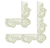 Lace - Abir Leaf Corners Embroidery Motif - 06 - Just Lace - by Sue Box