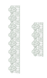 Lace Adah Borders Embroidery Motif - 11 - Just Lace - by Sue Box