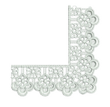 Lace Adah Border Corner Embroidery Motif - 12 - Just Lace - by Sue Box