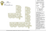 Lace Peridot Border Corners Embroidery Motif - 15 - Just Lace - by Sue Box