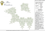 Lace Krystal Border Corners Embroidery Motif - 18 - Just Lace - by Sue Box
