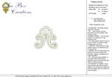 Lace Tamah Edge Embroidery Motif - 22 - Just Lace - by Sue Box