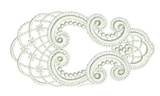 Lace Tamah Corner Embroidery Motif - 23 - Just Lace - by Sue Box
