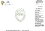 Lace Tamah Heart Embroidery Motif - 27 - Just Lace - by Sue Box