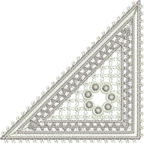 Classic Lace Jewel Corner design by Sue Box