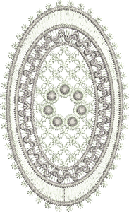 Lace Jewel Oval Embroidery design by Sue Box
