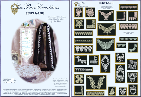Just Lace collection by Sue Box - Full Download