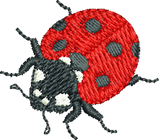 Lady Bug 3 Embroidery Motif - Natures Pals by Sue Box