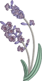 Lavender Spray Embroidery design by Sue Box