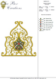 Fretwork Embroidery Motif - 08 - Sue Box Moroccan designs