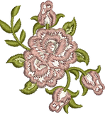 Rose Spray Embroidery design by Sue Box