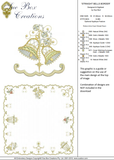 Christmas Straight Bells Border Embroidery Motif - 09 - Sparkling Christmas Collection by Sue Box