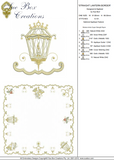 Christmas Straight Lantern Border Embroidery Motif - 12 - Sparkling Christmas Collection by Sue Box