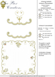 Christmas Straight Border and Straight Plain Border Embroidery Motif - 13 - Sparkling Christmas Collection by Sue Box